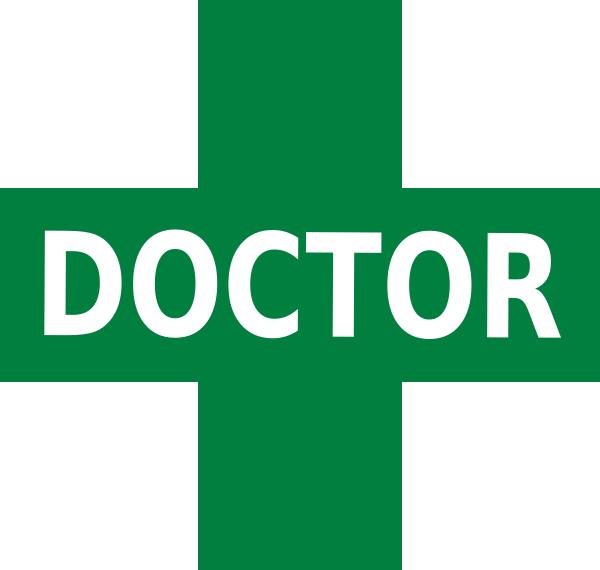 Emergency clipart medical logo. Doctor green white clip