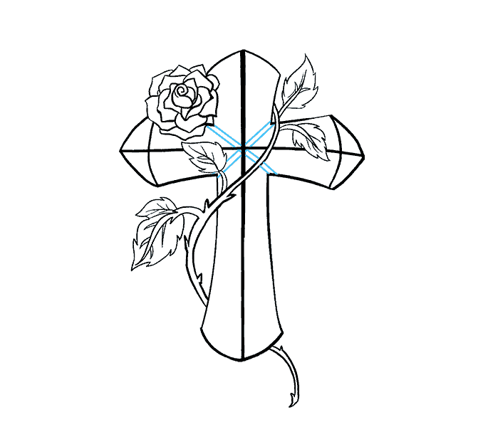 Cross clipart drawn. Drawing images at getdrawings