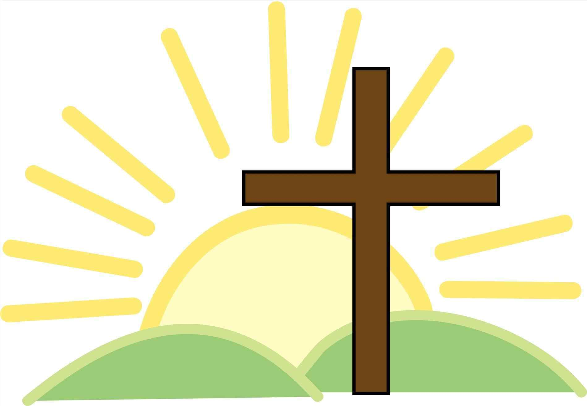 Clipart cross easter. Station
