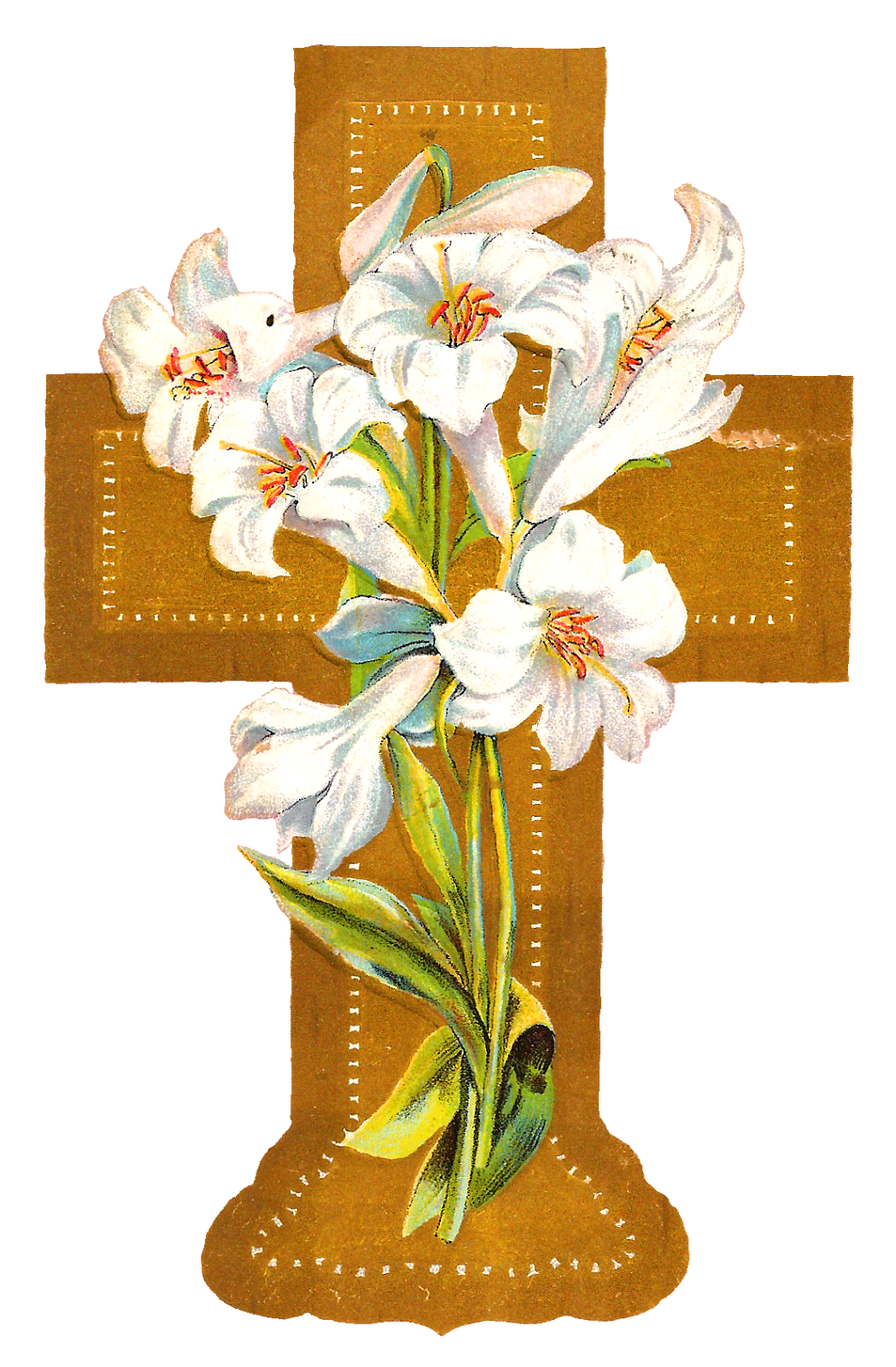 Clipart cross easter. Antique images digital download
