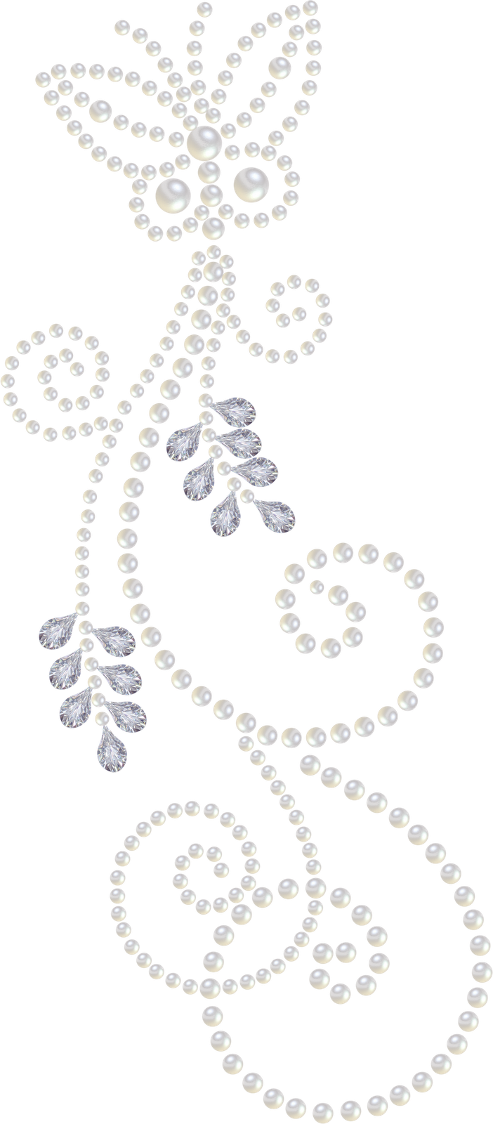 Another pearl and diamond. Crystal clipart painted