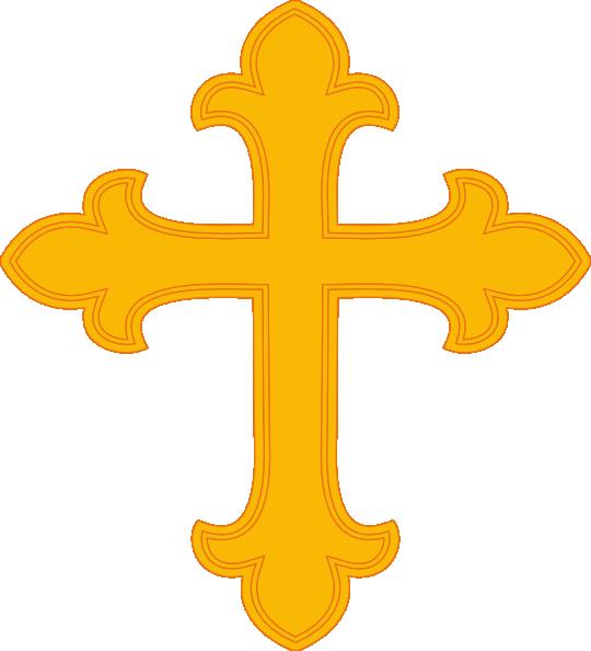 Gold clip art at. Keys clipart cross