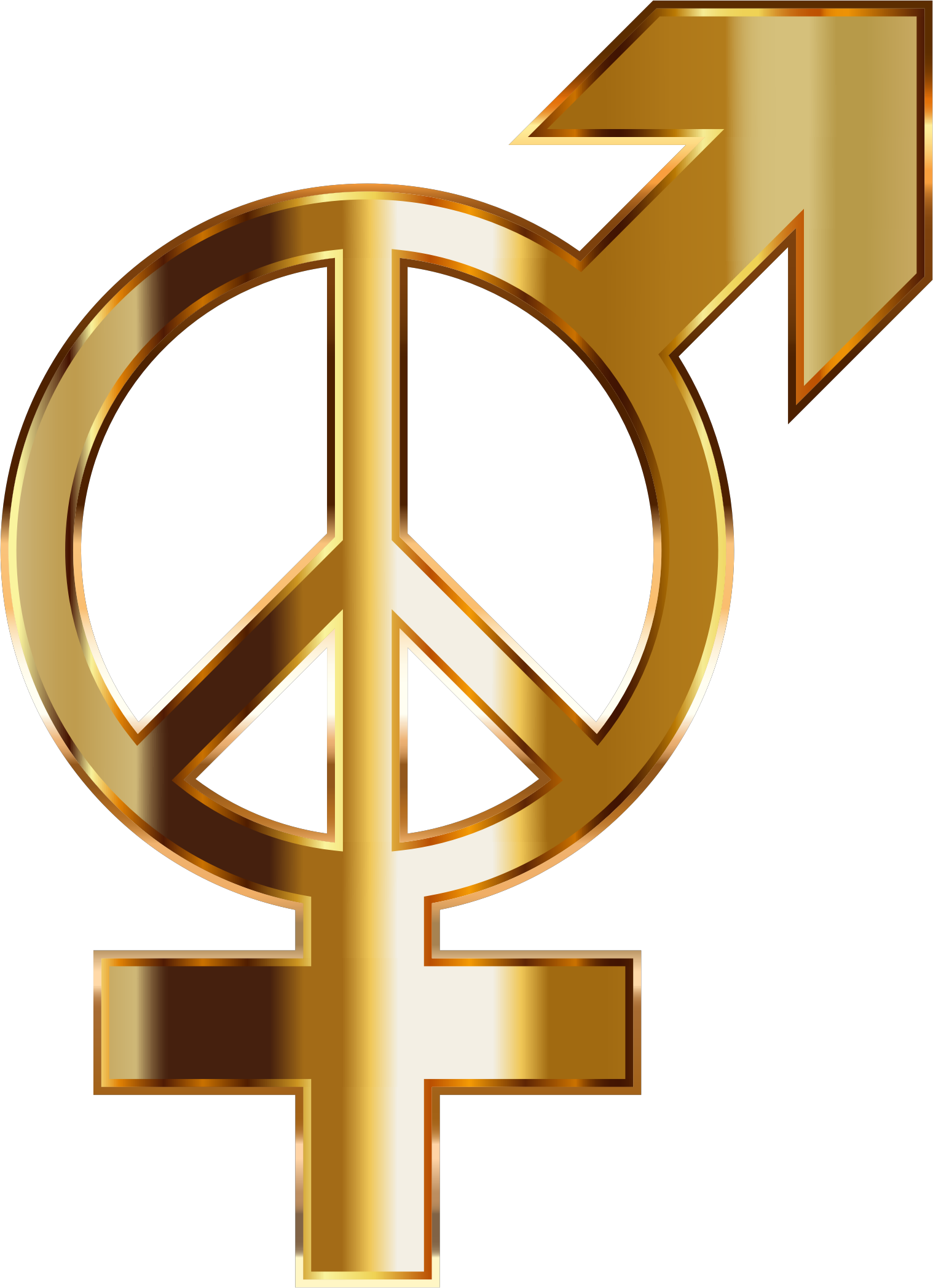 Gold gender no background. Peace clipart peace harmony
