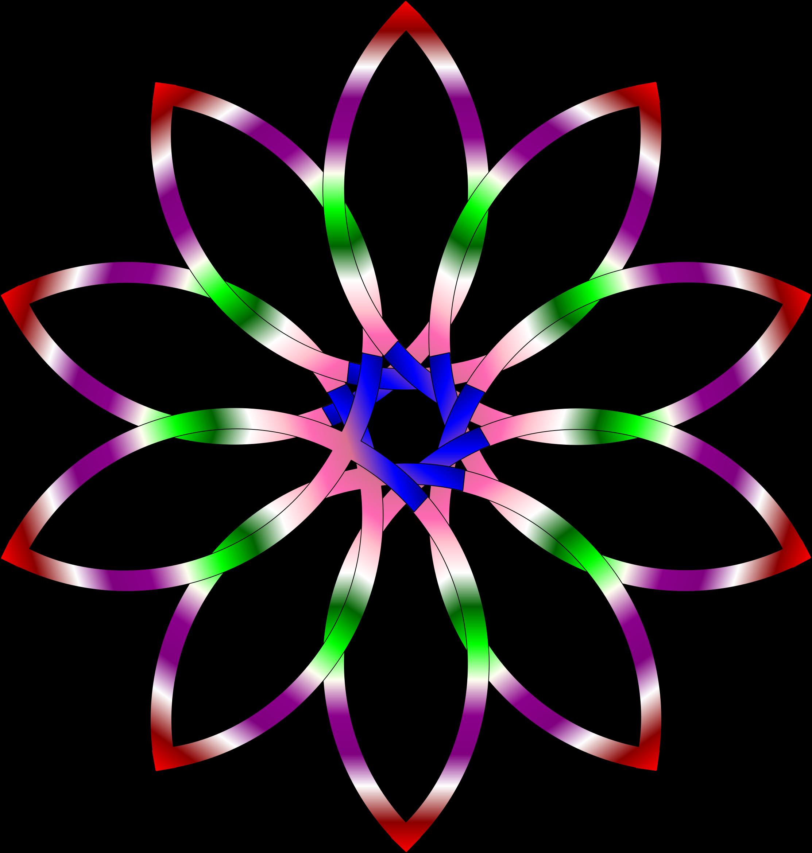 Mandala big image png. Clipart fish plant