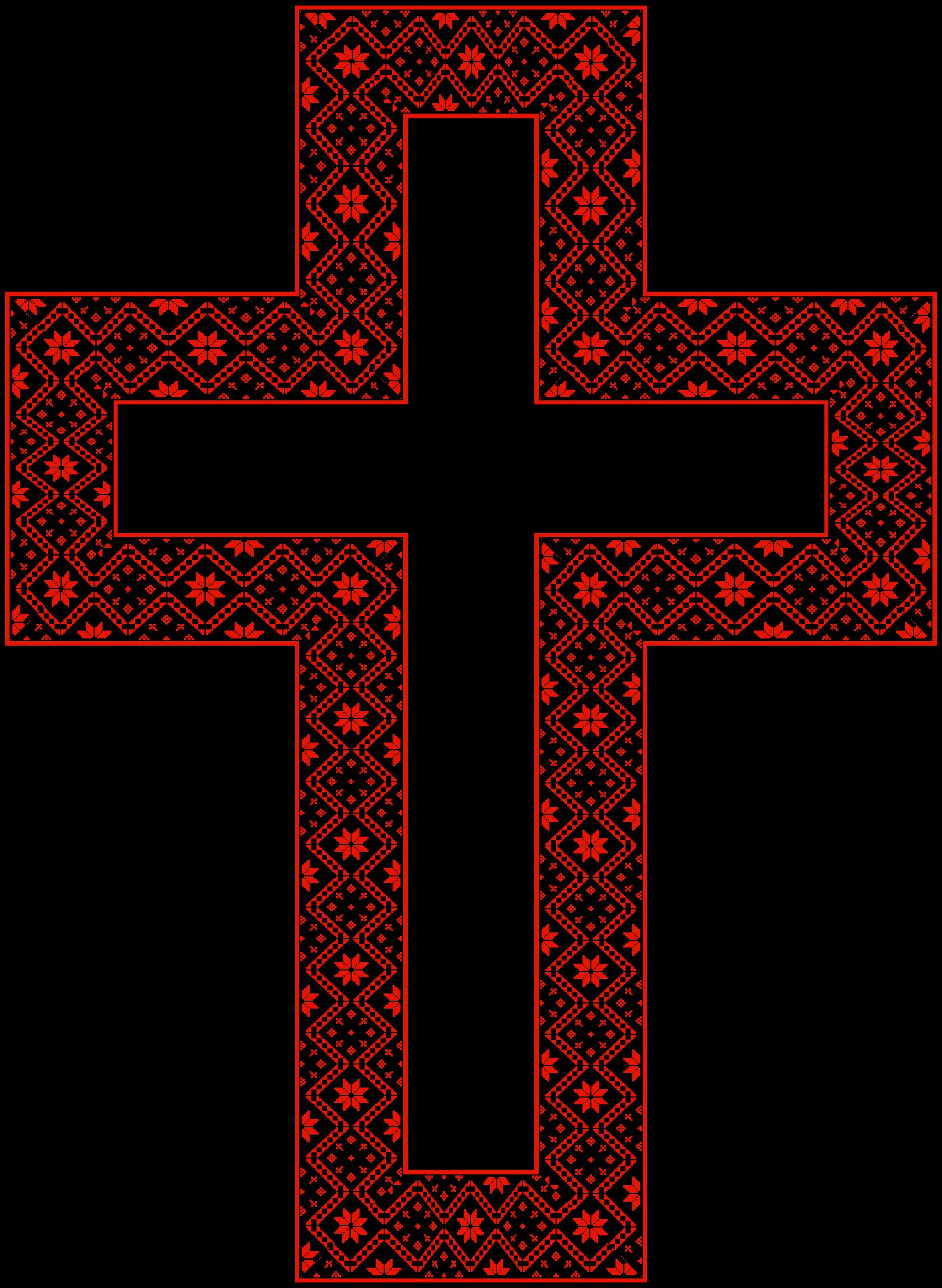 Crucifix clipart ornate cross. Floral big image png
