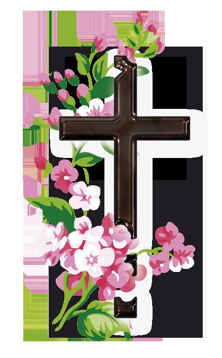 Crucifix clipart flower.  imagen png