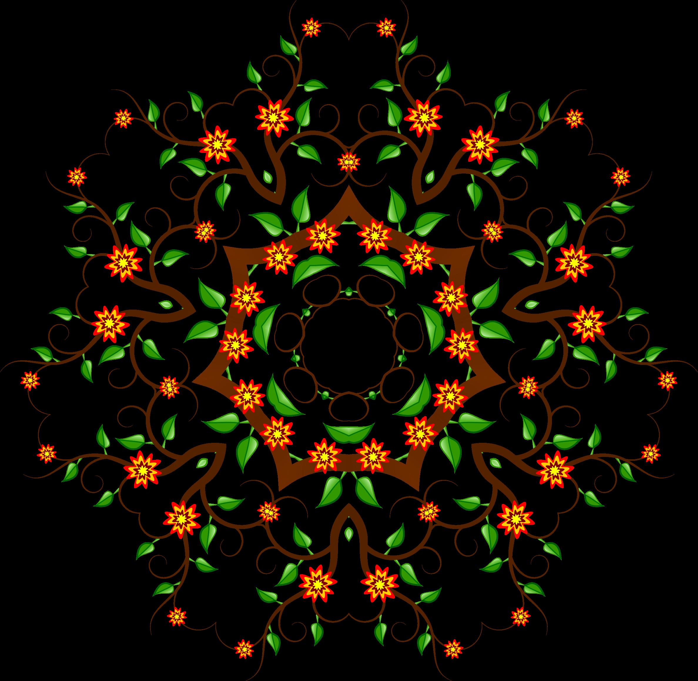 Floral design big image. Cross clipart tree