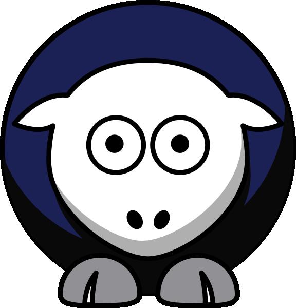 Sheep holy crusaders team. Clipart cross football