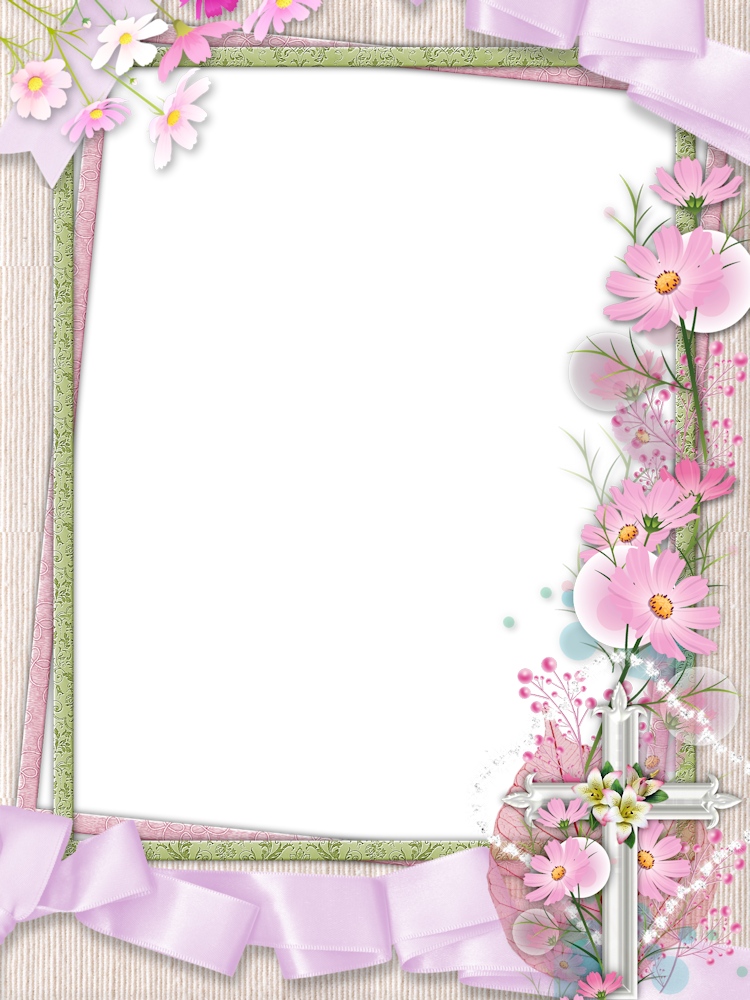Pink png photo with. Clipart cross frame