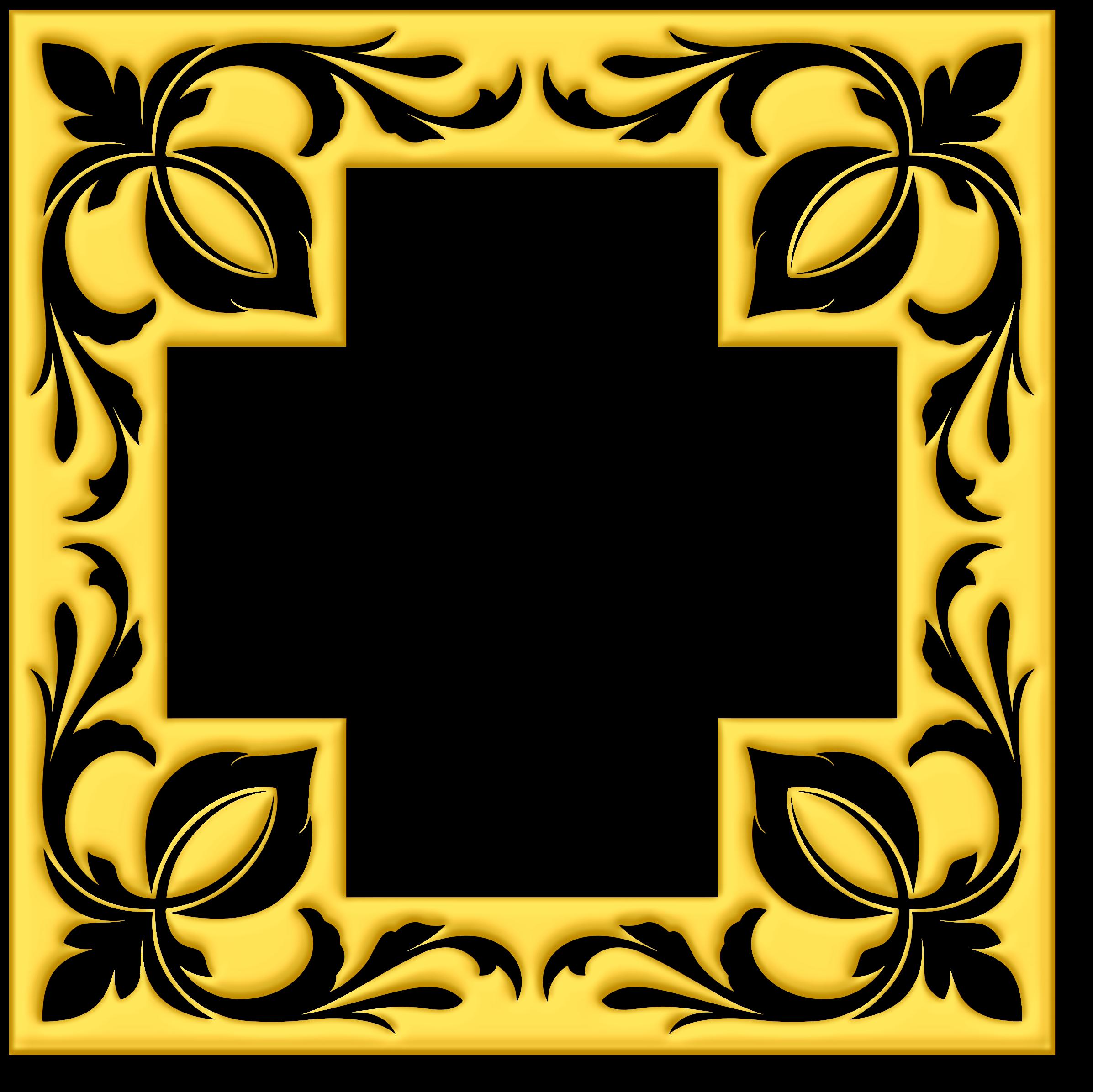 Clipart cross frame. Gold big image png