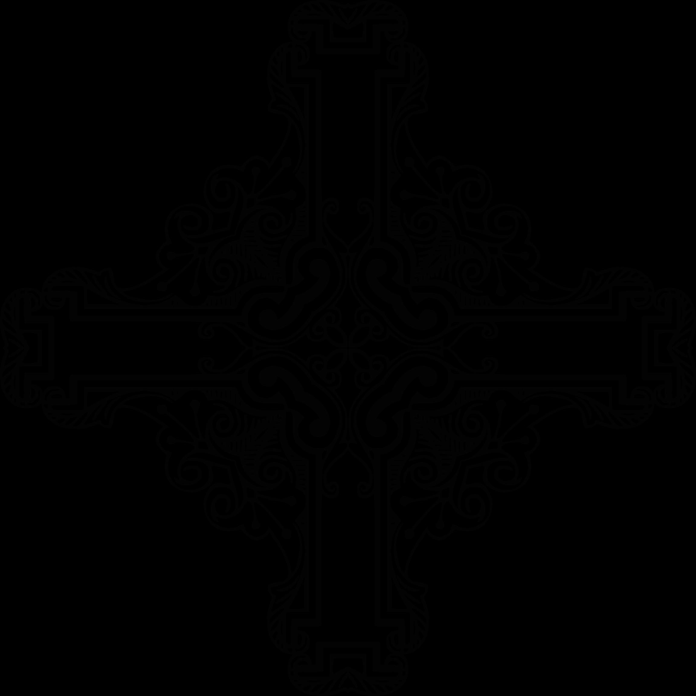 Clipart cross frame. Vintage symmetric big image