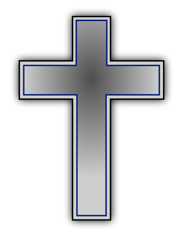 Grey cross clip art. Crucifix clipart girly