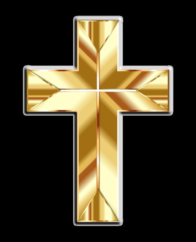 Crucifix clipart cruz. Golden cross fixed medium