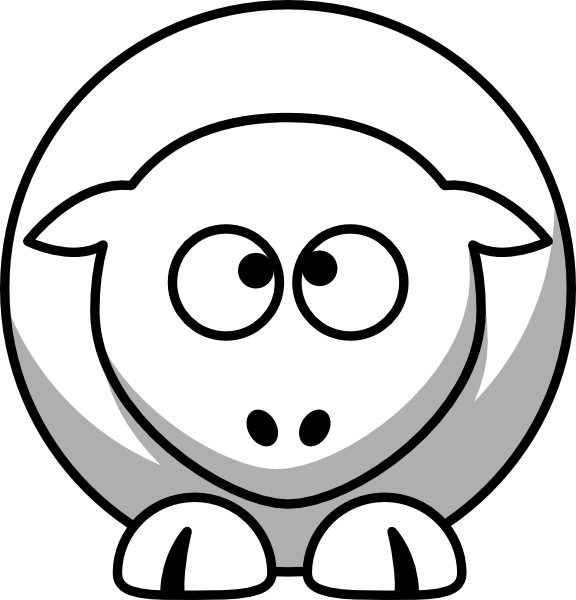 Sheep clipart kid. Cross eyed up clip
