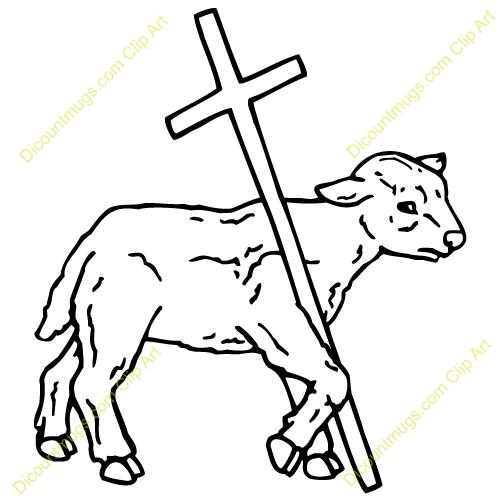 Lamb clipart cross. And clip art panda