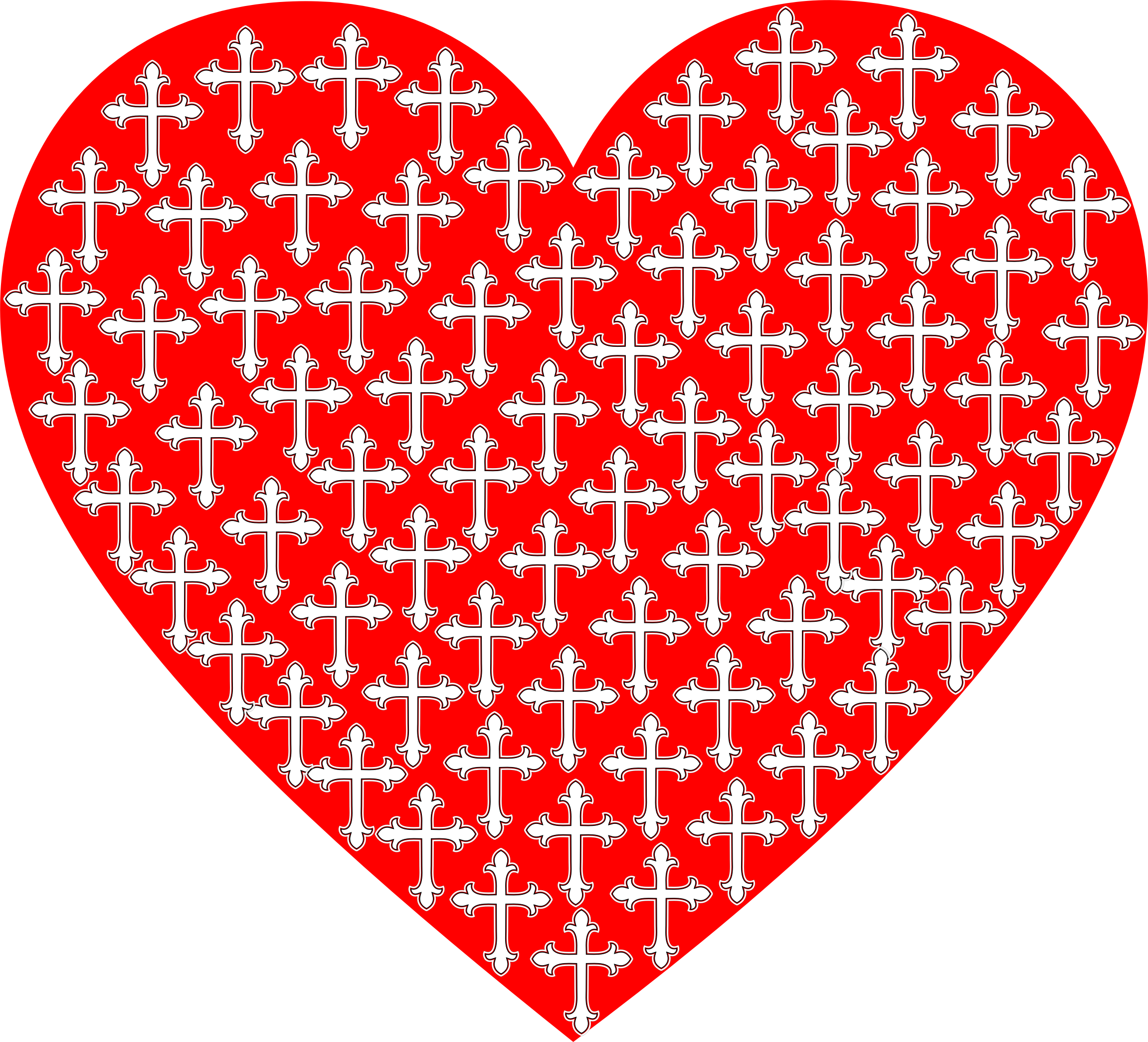 Clipart love cross. Heart crosses big image
