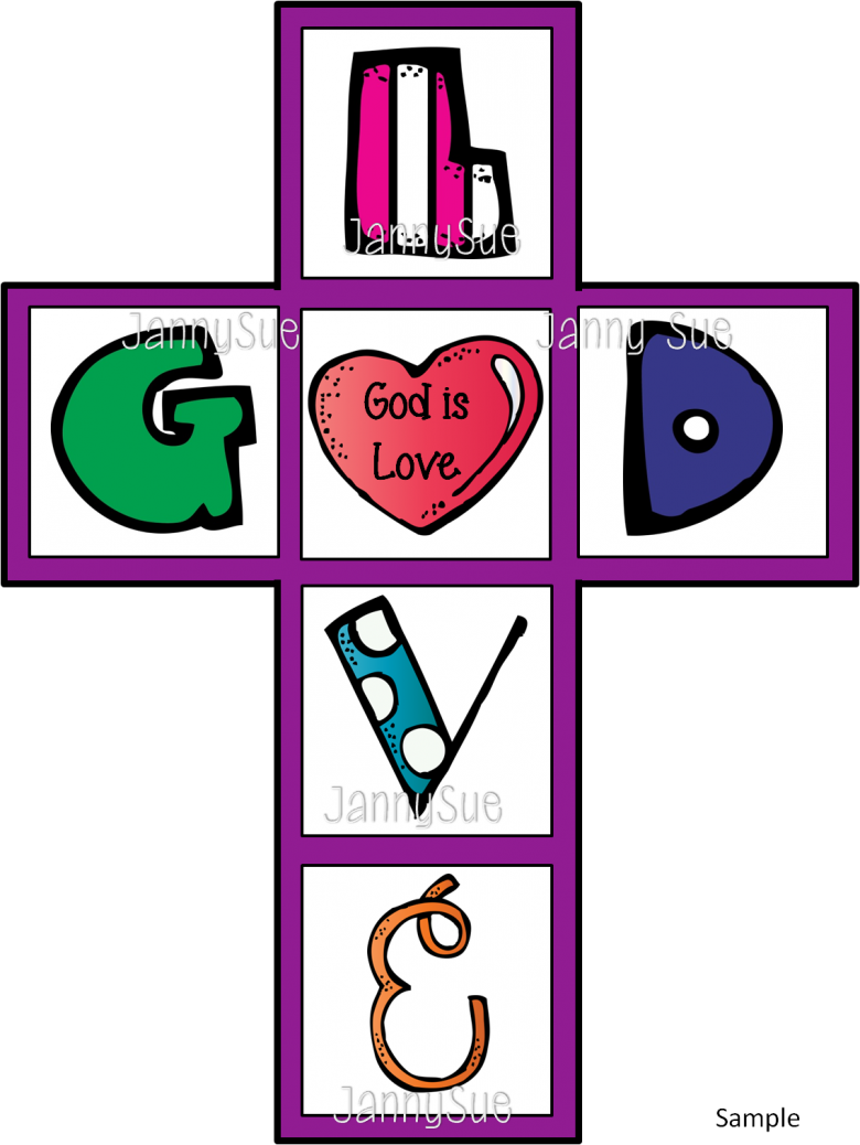 Creation clipart cares god. Is love cross craft