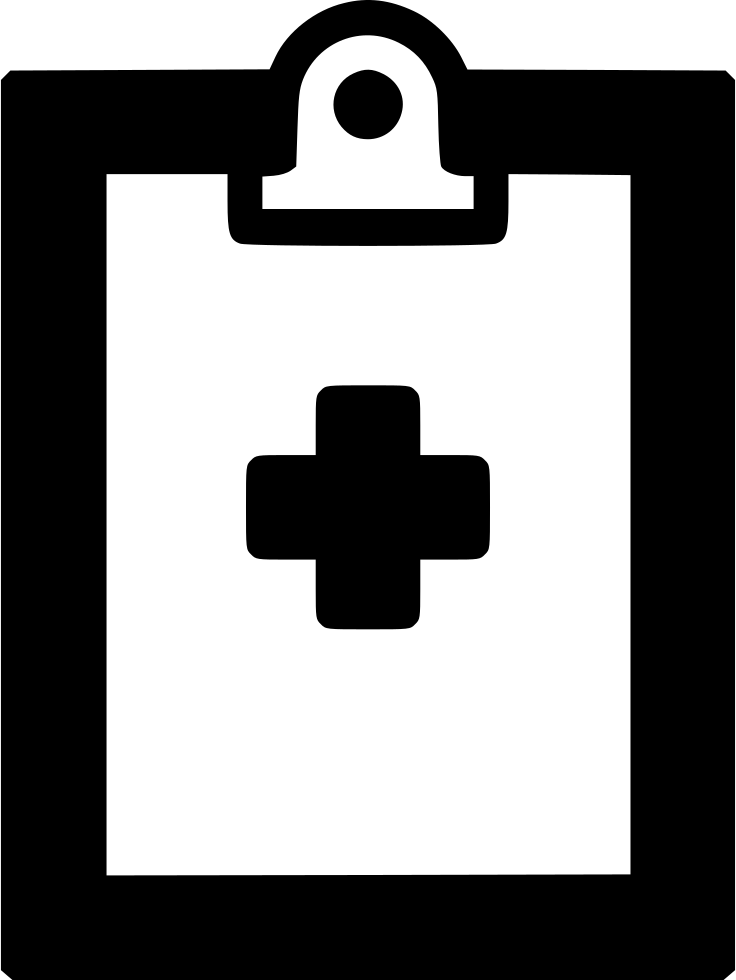 Medical report file pulse. Clipboard clipart exam