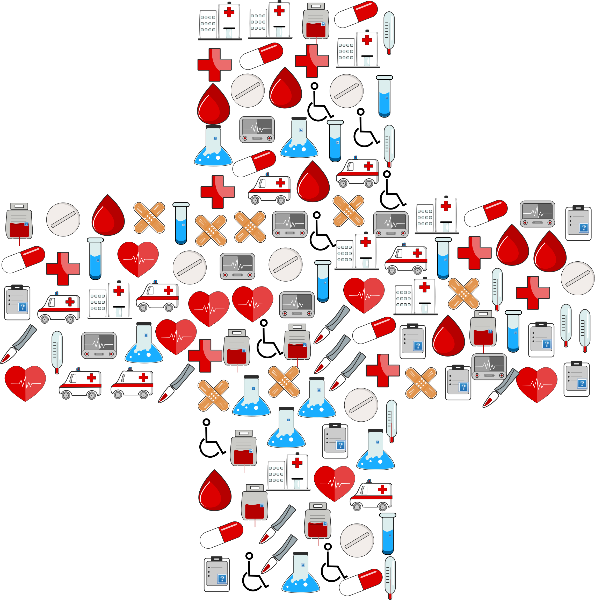 Medical icons cross big. Medication clipart drawing