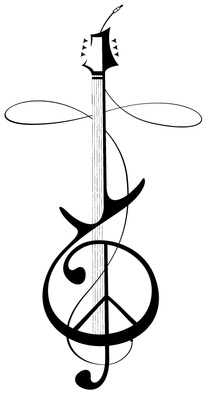 Cross minus the peace. Clipart guitar symbol