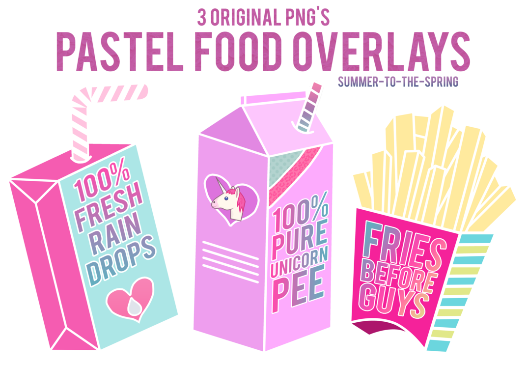 Food clipart spring. Pastel overlays by summer