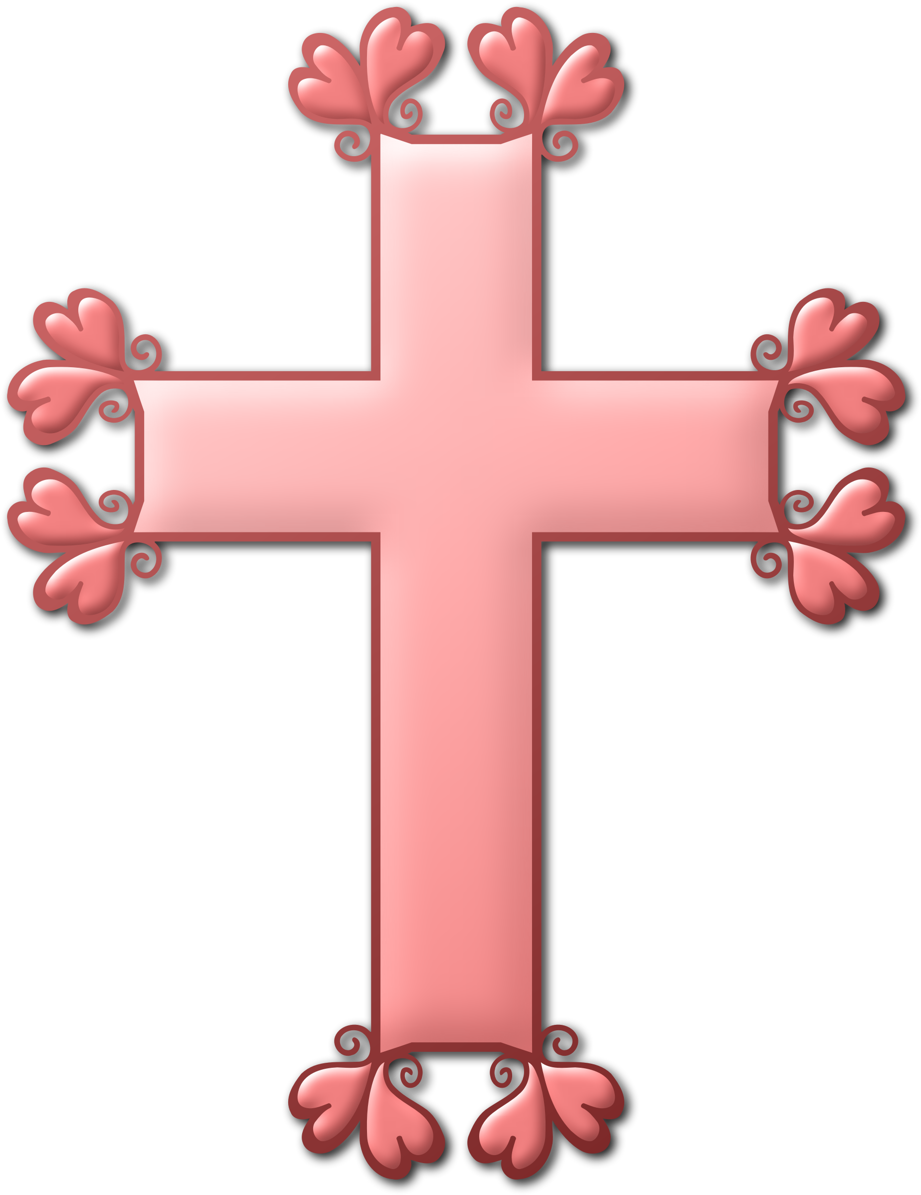 Heart colour big image. Clipart cross pink