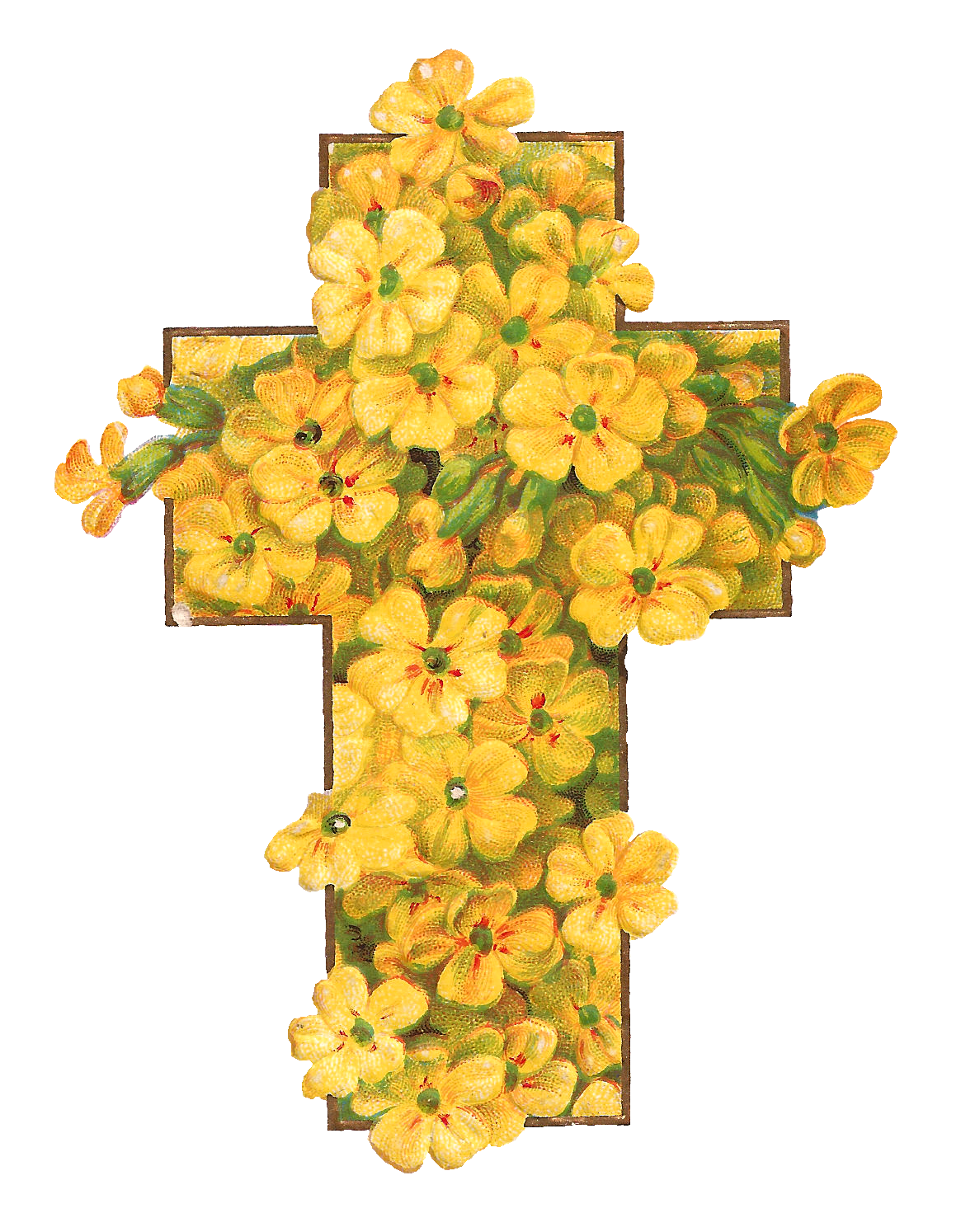 Clipart cross printable. Antique images digital easter