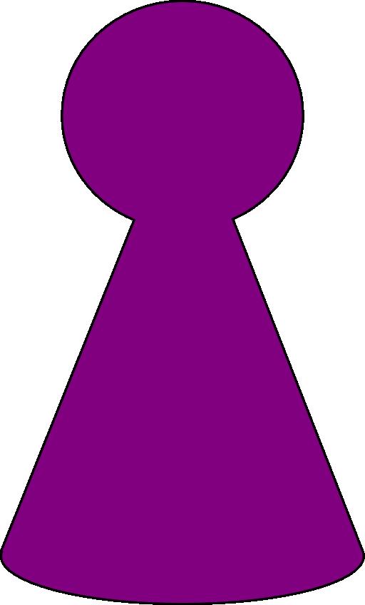 E clipart purple. Ludo piece plum i