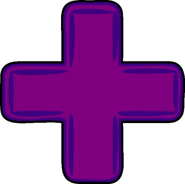 Plus clip art at. Cross clipart purple