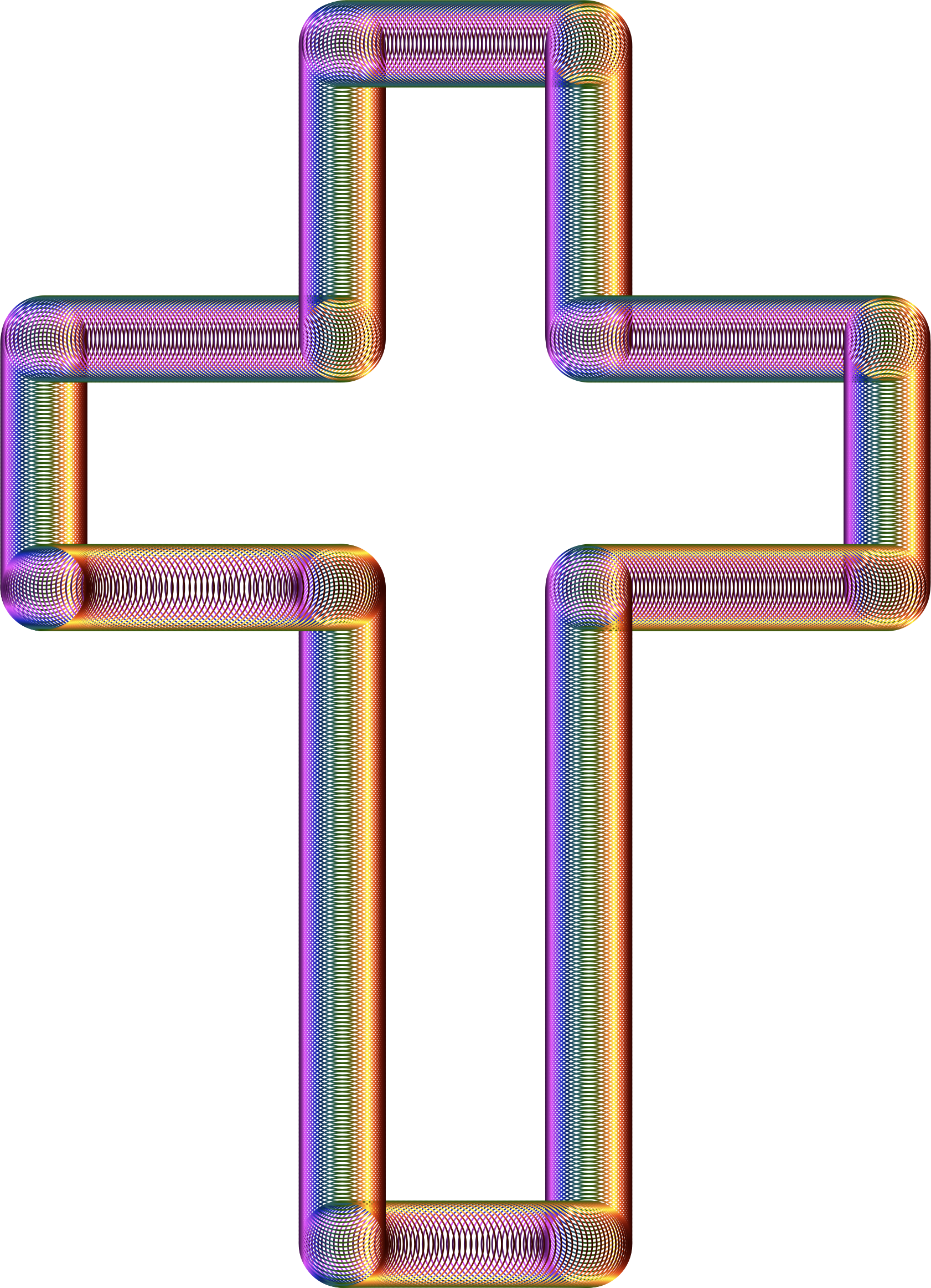 Tubes chromatic no background. Cross clipart purple