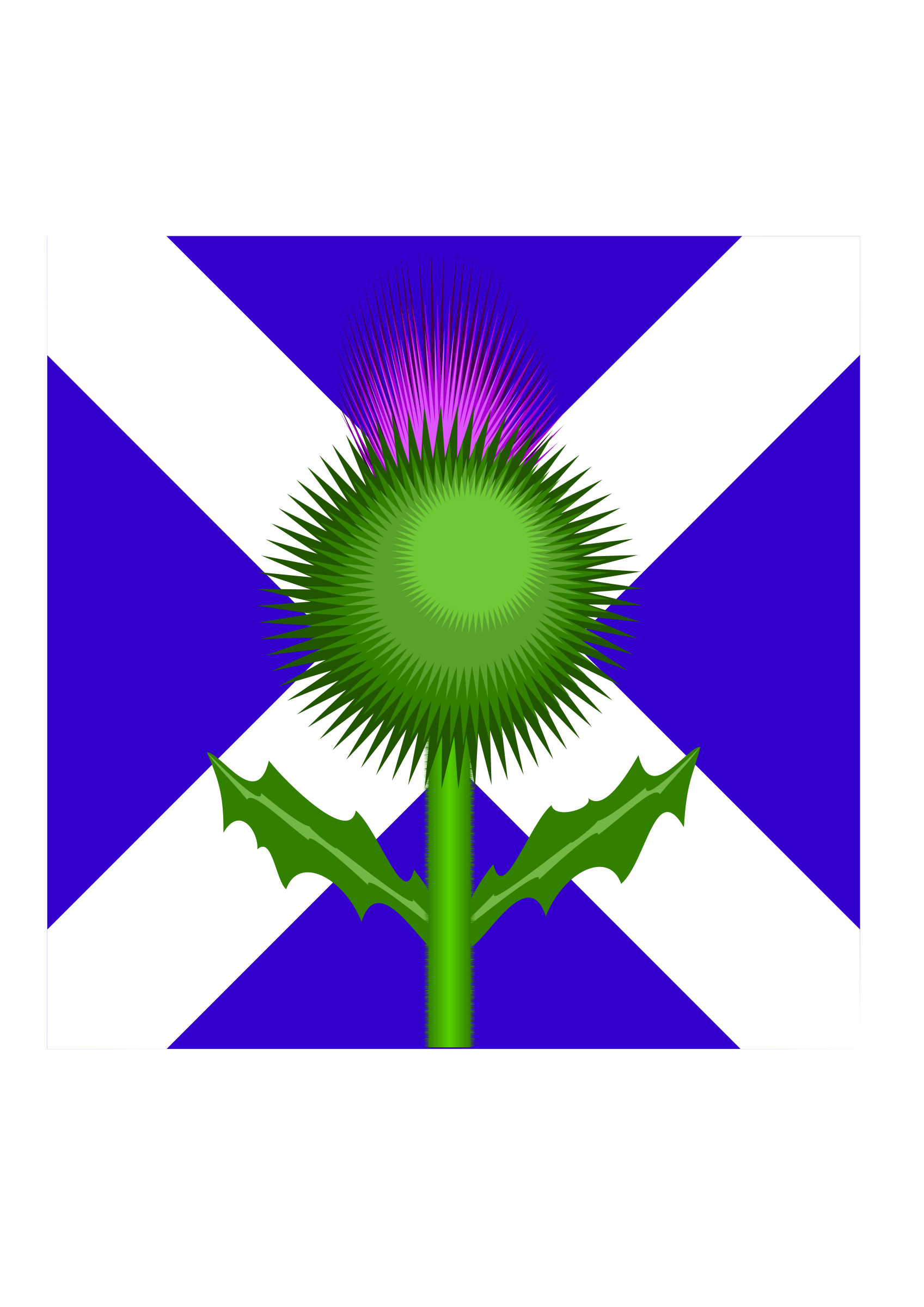 Scottish thistle and flag. Dust clipart dusty weather
