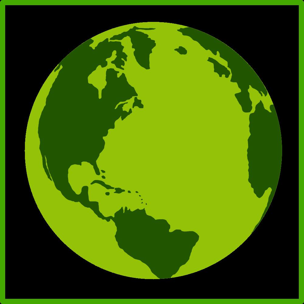 Clipart world earth half. Onlinelabels clip art eco