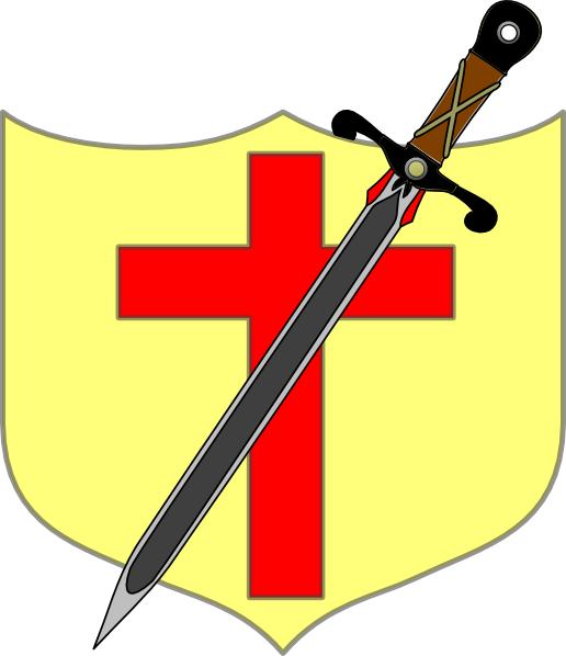 Clipart shield cross. Sword and colored clip