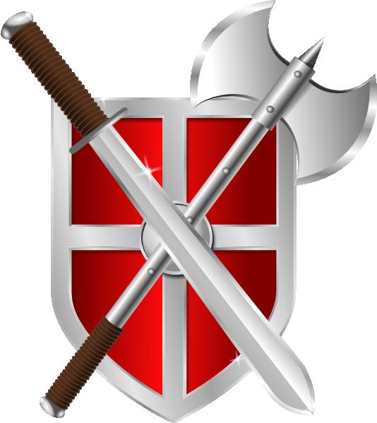 Sword battleaxe clip art. Warrior clipart shield