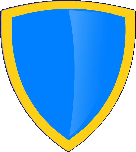 Blue gold clip art. Clipart shield cross