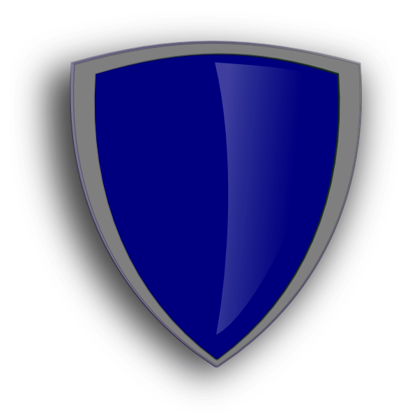 Clipart shield shield logo. Blue clip art at