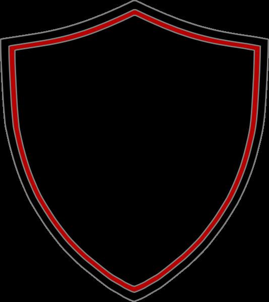 Clipart shield emblem. Black red clip art