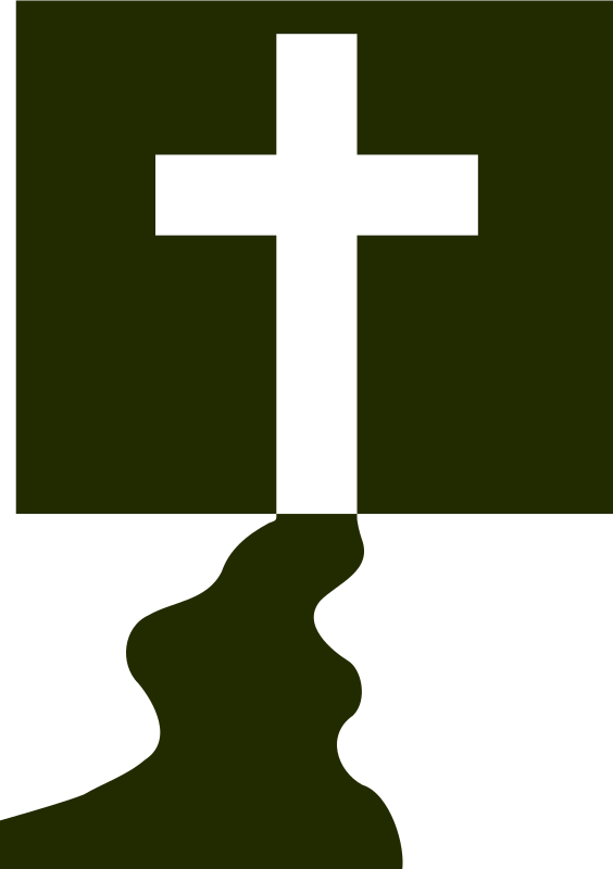 Of three crosses at. Clipart cross silhouette