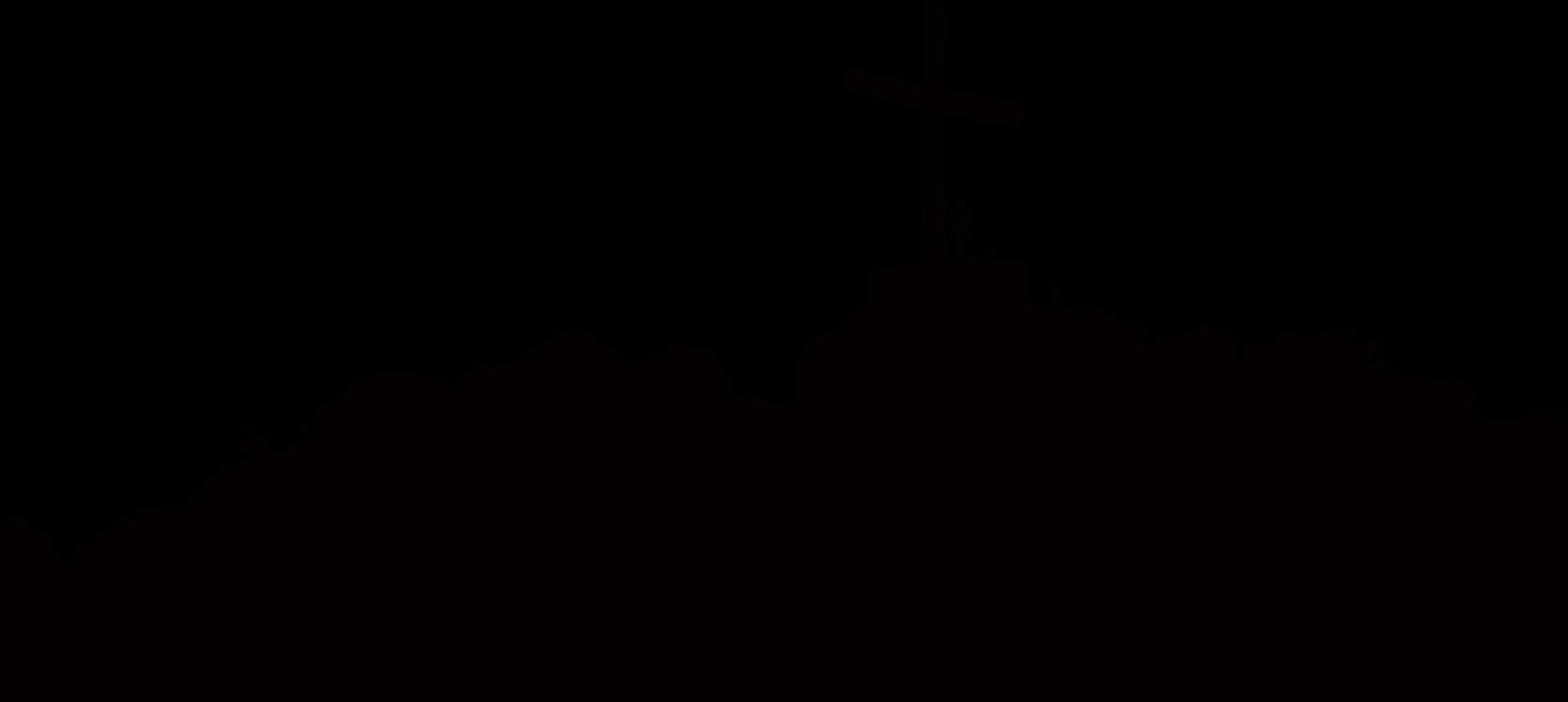 Clipart farm sunrise. Cross silhouette at getdrawings