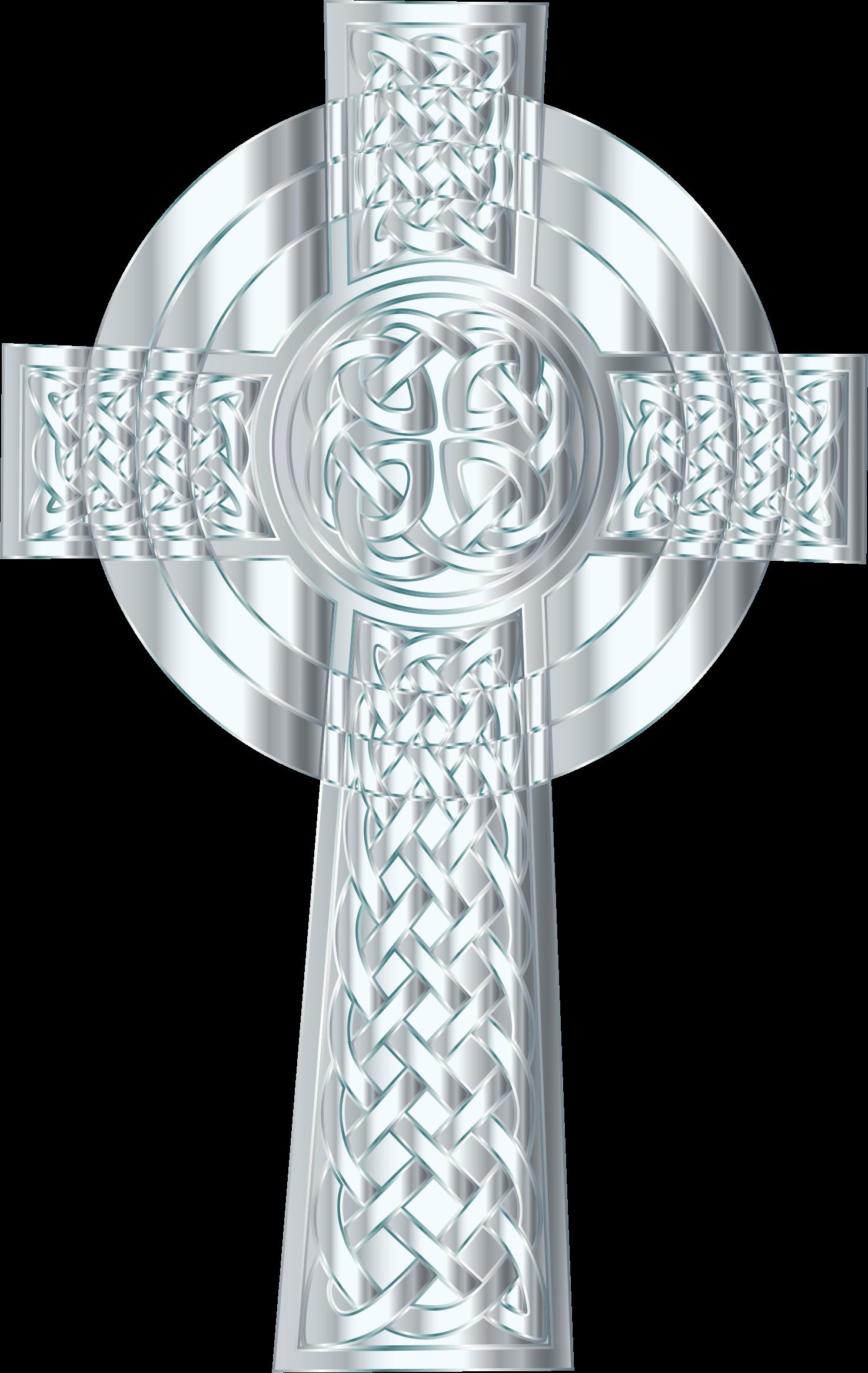 Crucifix clipart ornate cross. Silver celtic big image