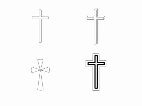 Free outline download clip. Crucifix clipart small cross