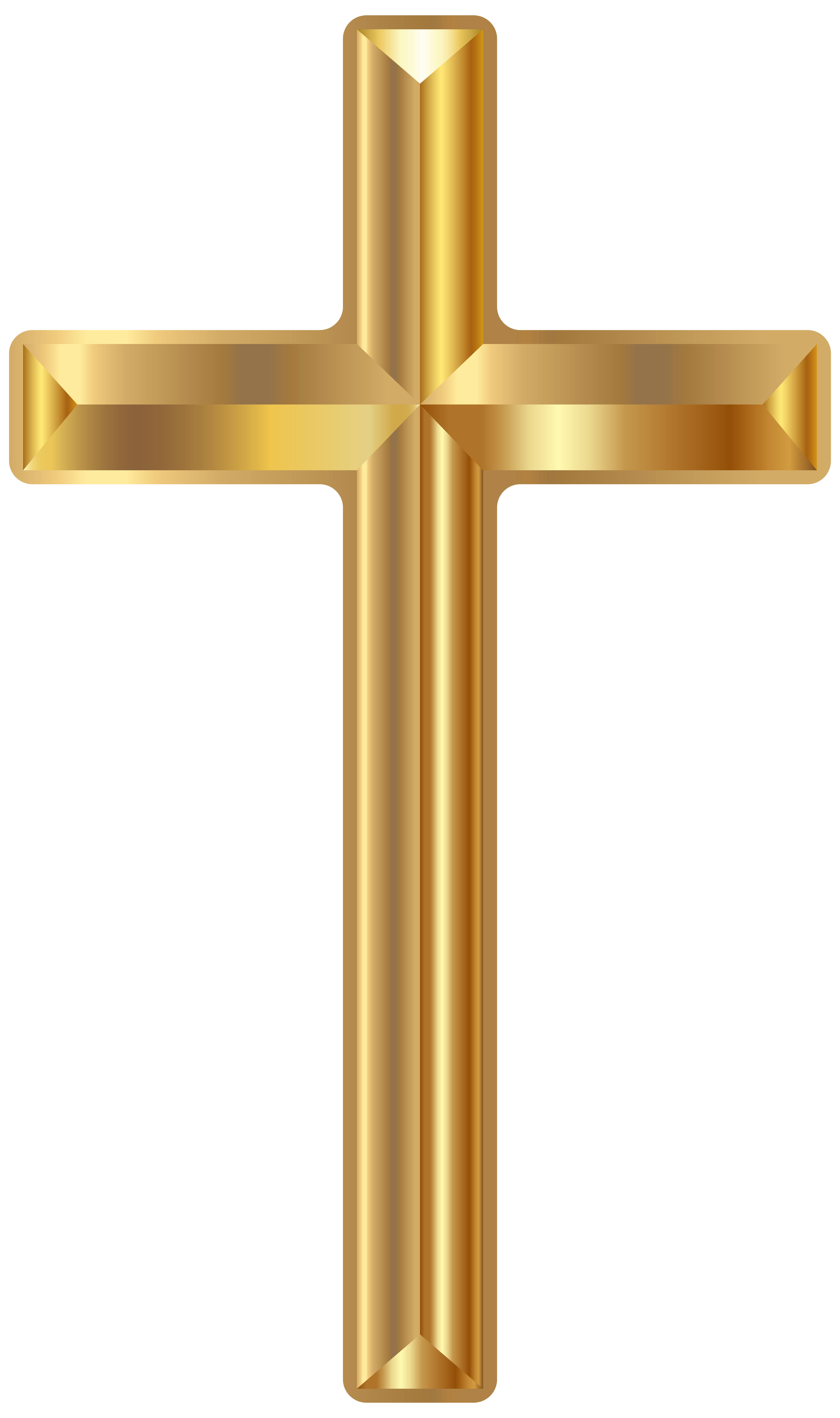 Clipart cross spring. Gold png transparent clip