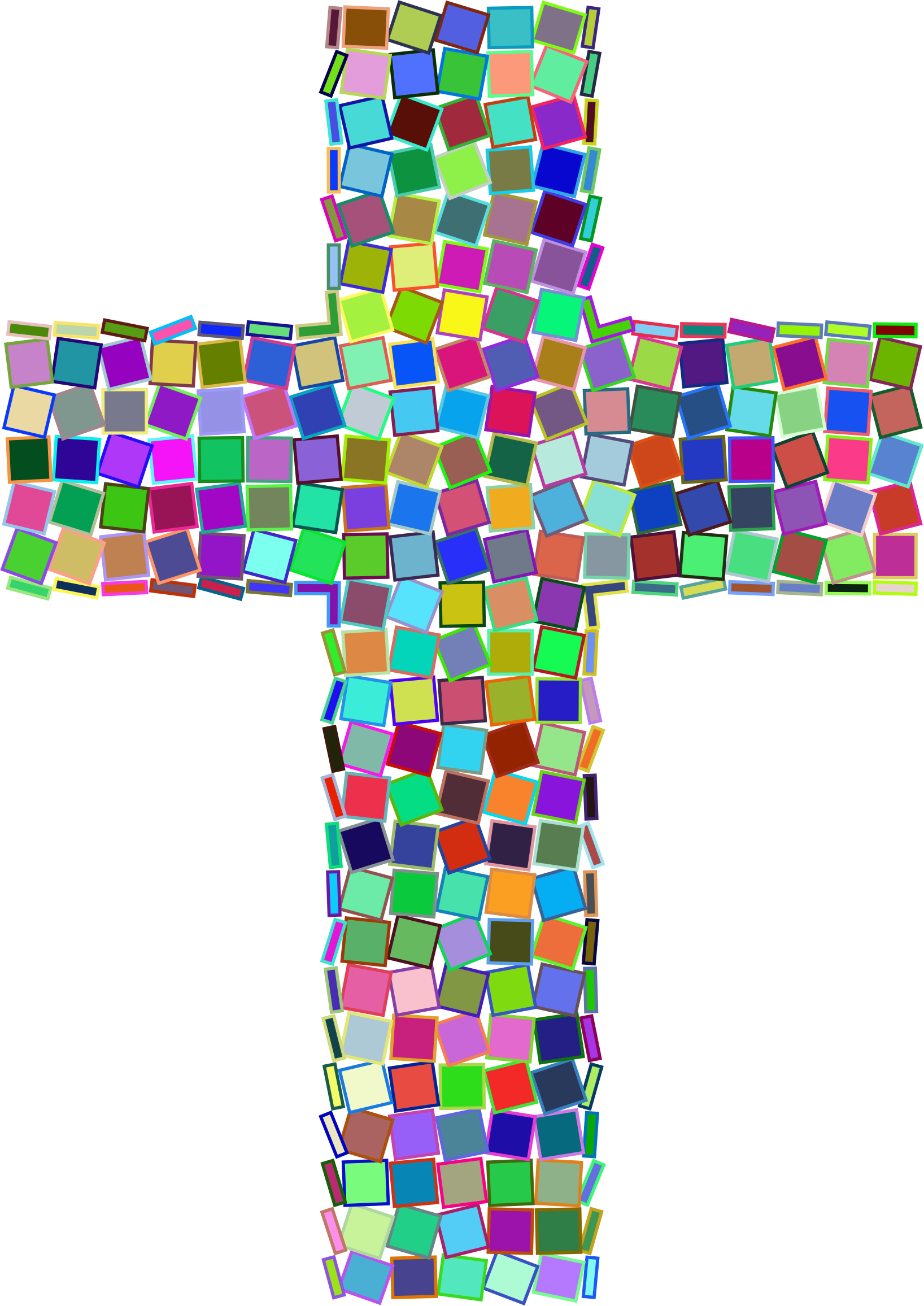 Prismatic mosaic big image. Cross clipart stained glass
