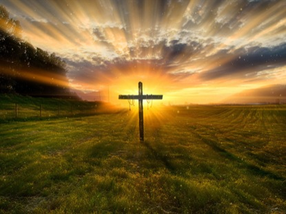Easter Day Cross. Cross With Sunrise Background. Royalty Free Cliparts,  Vectors, And Stock Illustration. Image 69077115.