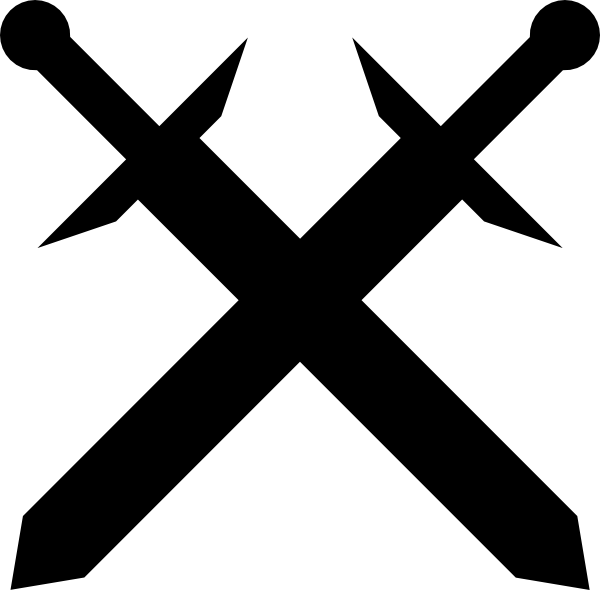 Black swords clip art. Gun clipart crossed