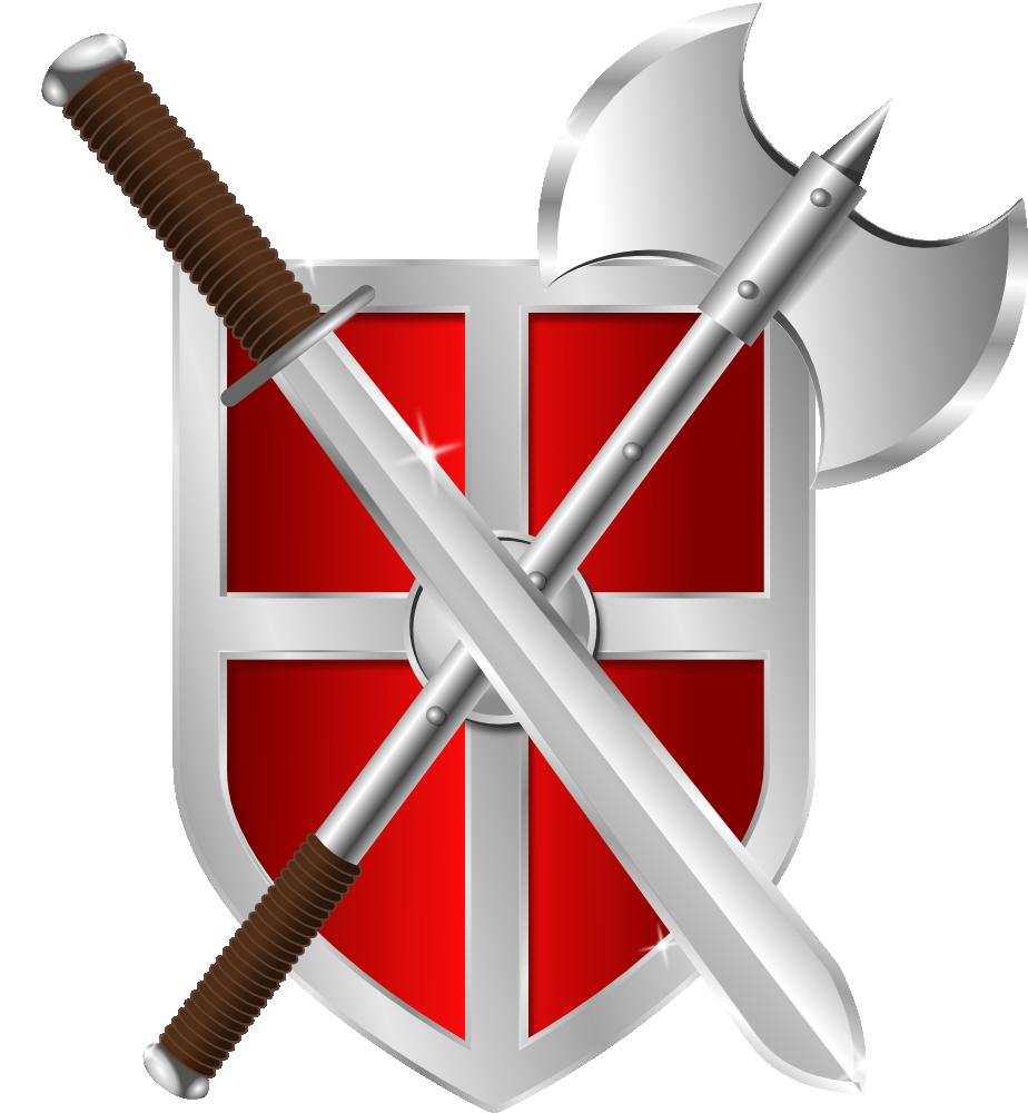 And shield panda free. Clipart design sword