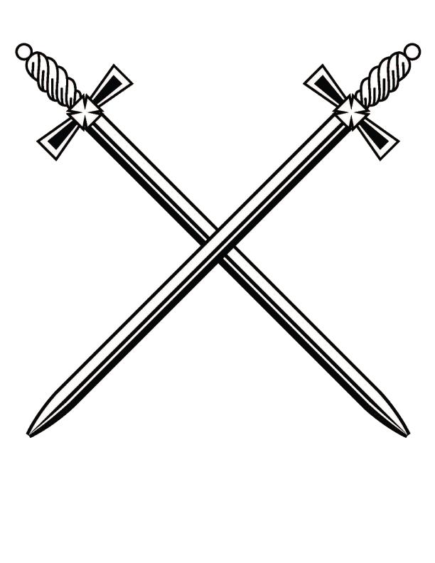 Cross clipart swords. Sword png black and