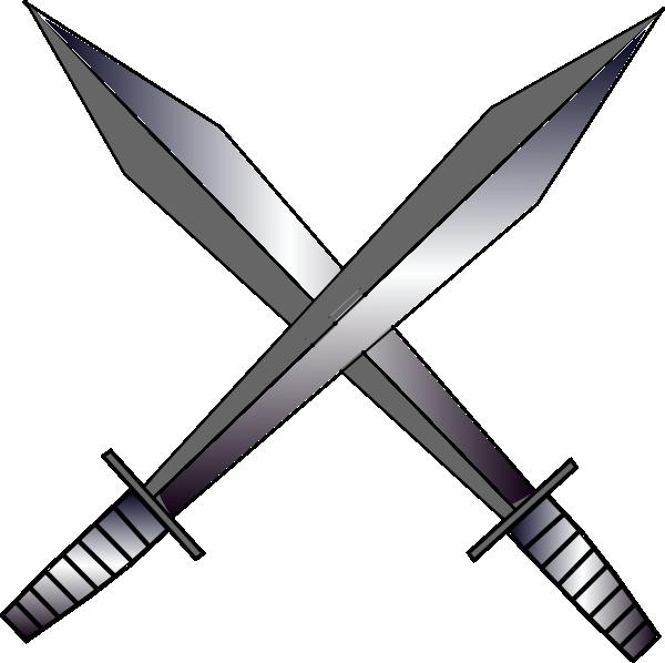Clipart sword gun. Cross swords clip art