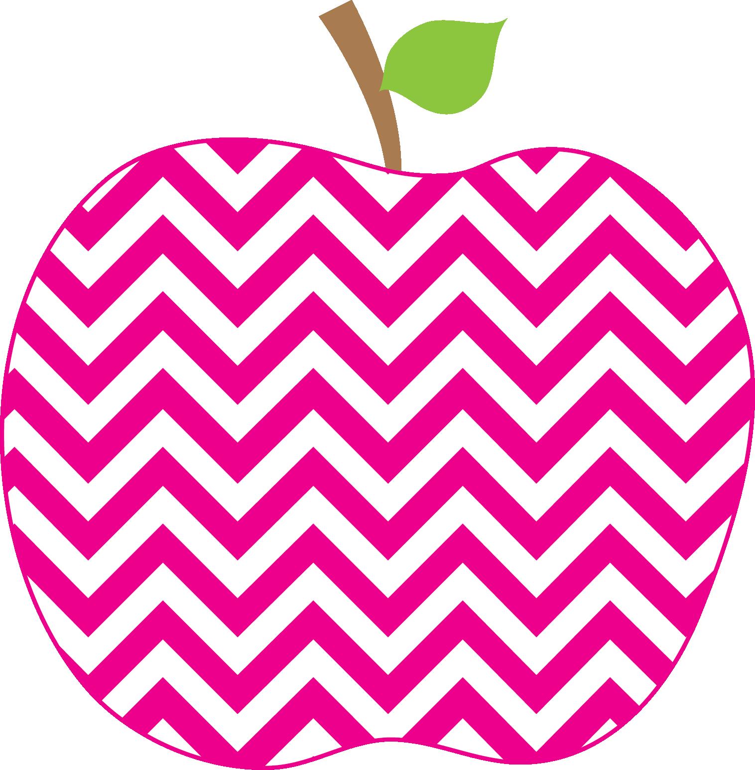 Clipart cross teacher. Chevron apple