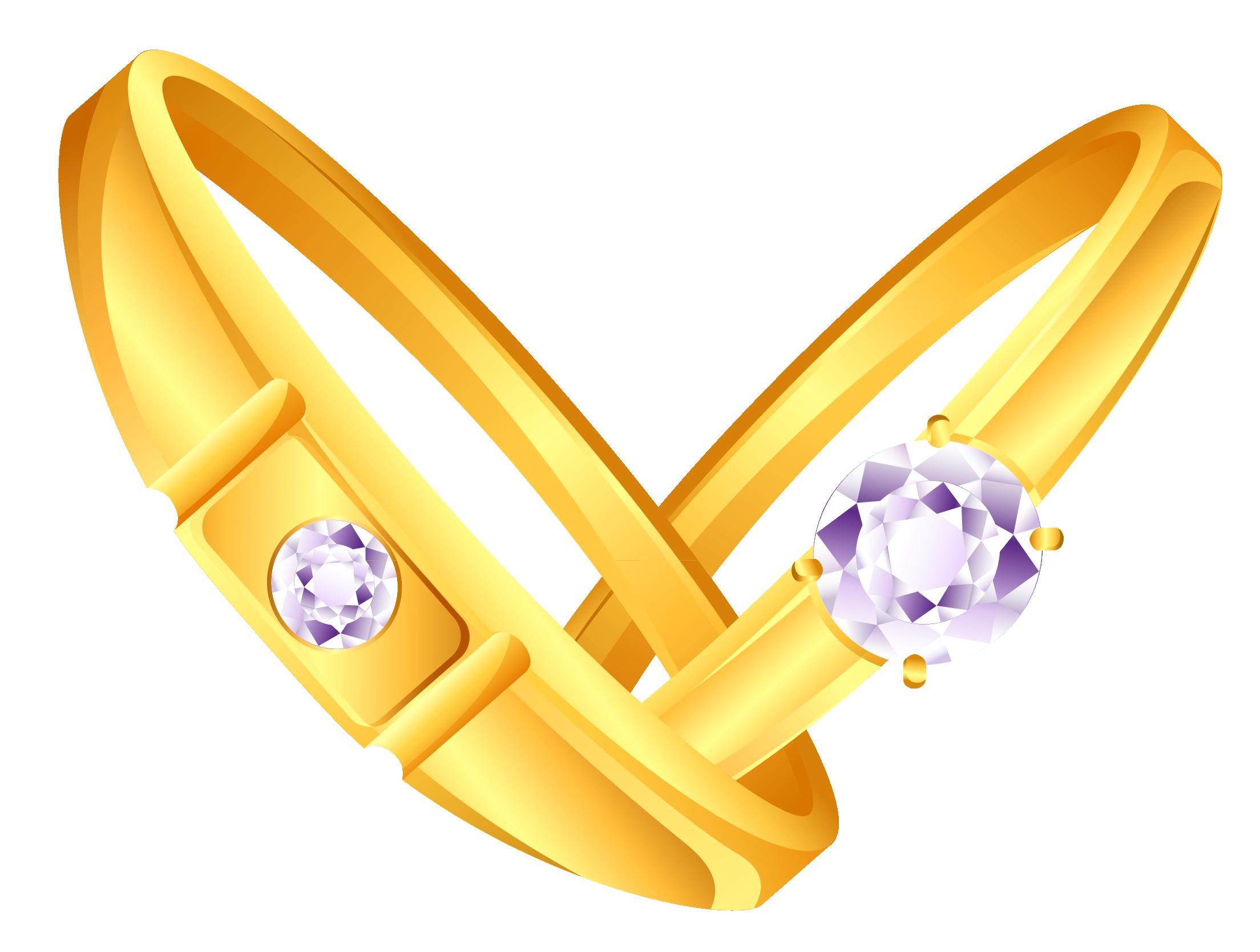 Rings interlocking making two. Clipart wedding gold